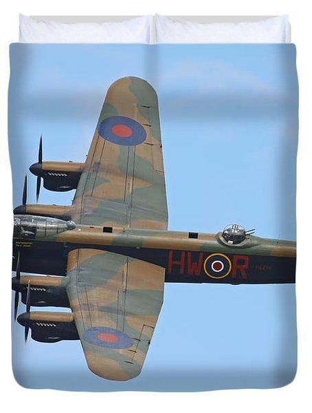 Bbmf Lancaster Bomber Duvet Cover by Ken Brannen