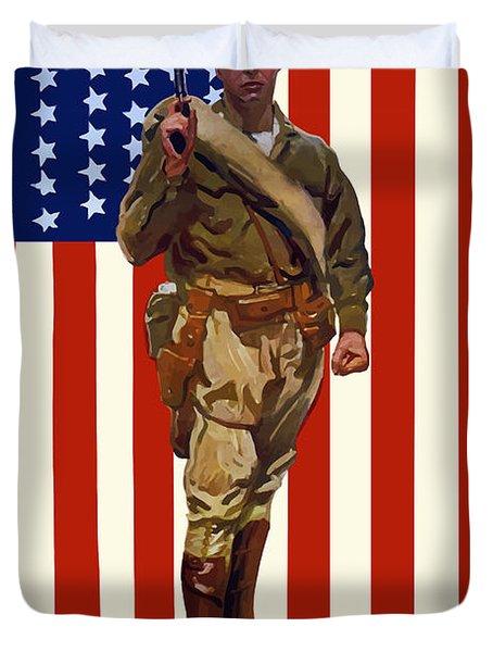 Be A Us Marine Duvet Cover