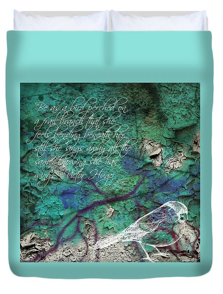 Duvet Cover featuring the photograph Be As A Bird by Robin Regan
