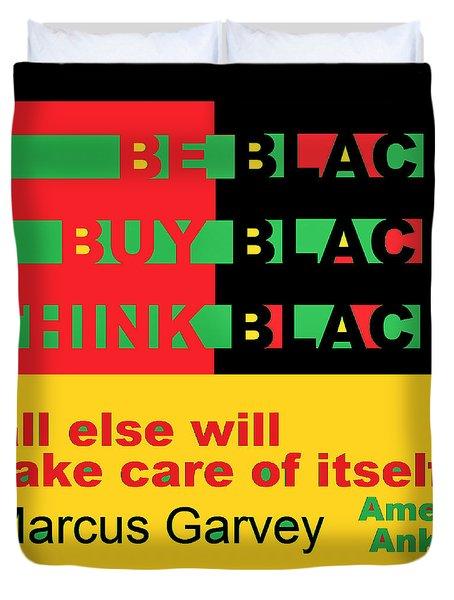 Be Black Rbg Duvet Cover