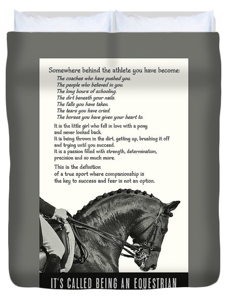 Be Equestrian Quote Duvet Cover