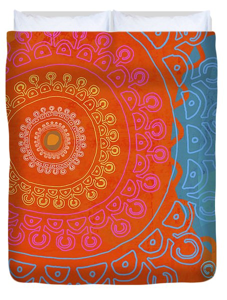 Duvet Cover featuring the painting Be Exactly Who You Are by Lisa Weedn