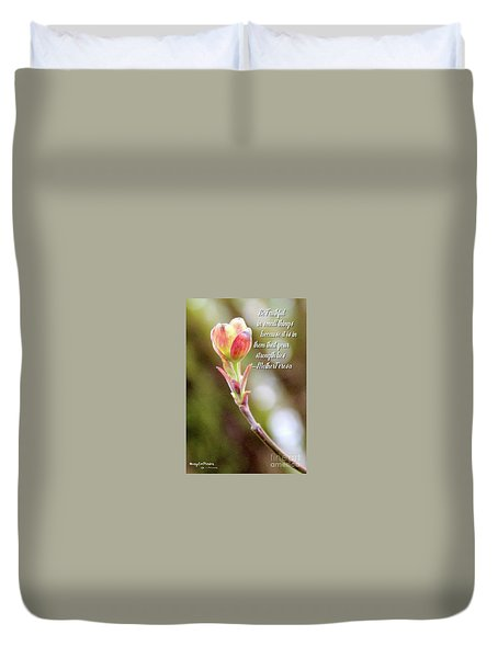 Be Faithful By Mother Teresa Duvet Cover