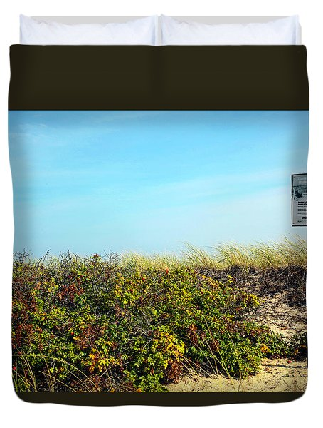 Duvet Cover featuring the photograph Be Kind To The Dune Plants by Madeline Ellis