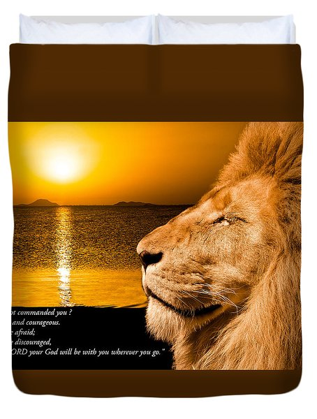 Duvet Cover featuring the photograph Be Strong And Courageous by Scott Carruthers
