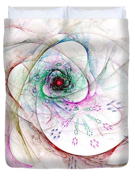 Be Strong Little Flower Duvet Cover