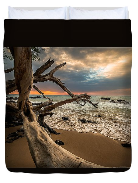 Duvet Cover featuring the photograph Beach 69 by Allen Biedrzycki