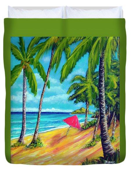 Beach And Mokulua Islands  #368 Duvet Cover by Donald k Hall