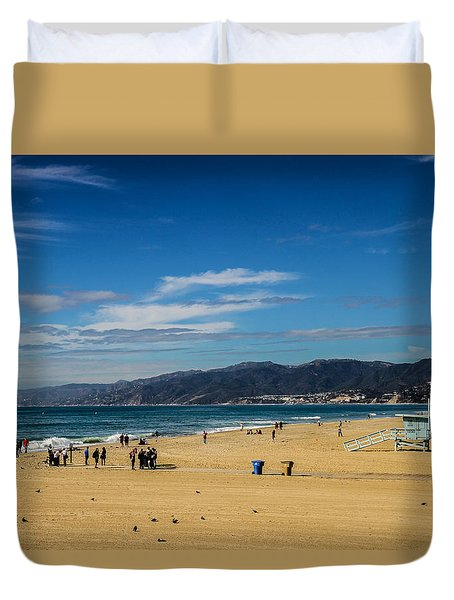 Beach And Mountains Duvet Cover