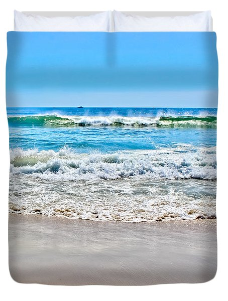 Beach And Ocean Waves Duvet Cover