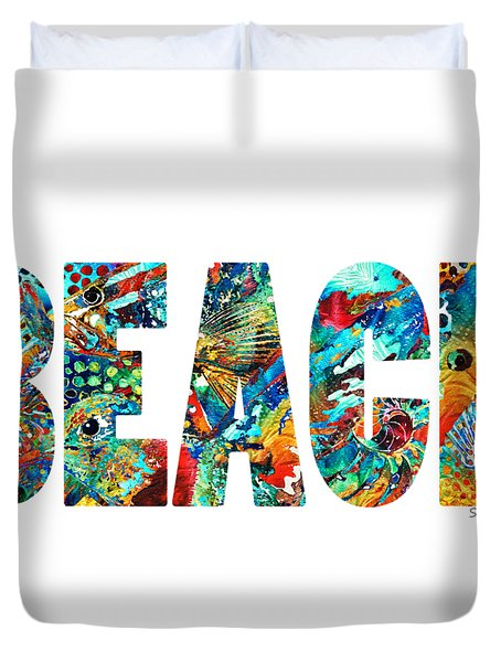 Beach Art - Beachy Keen - By Sharon Cummings Duvet Cover