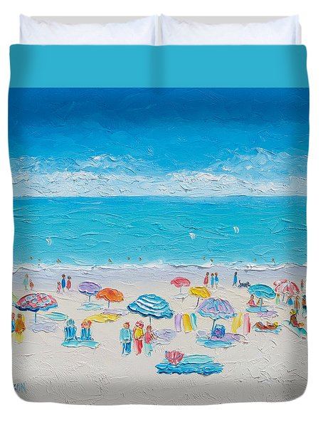 Beach Art - Fun In The Sun Duvet Cover