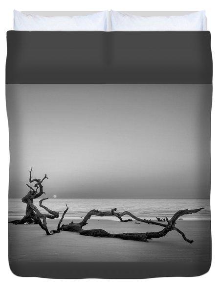 Beach Art In Black An White Duvet Cover