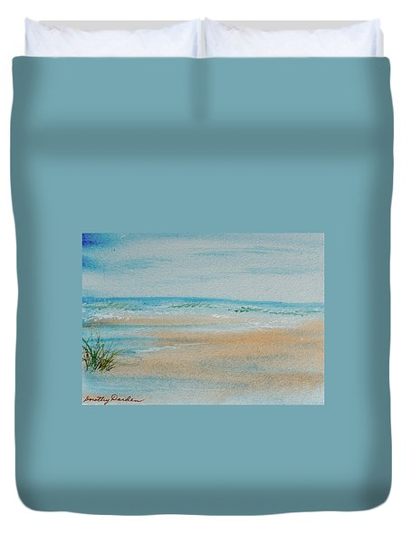 Beach At High Tide Duvet Cover