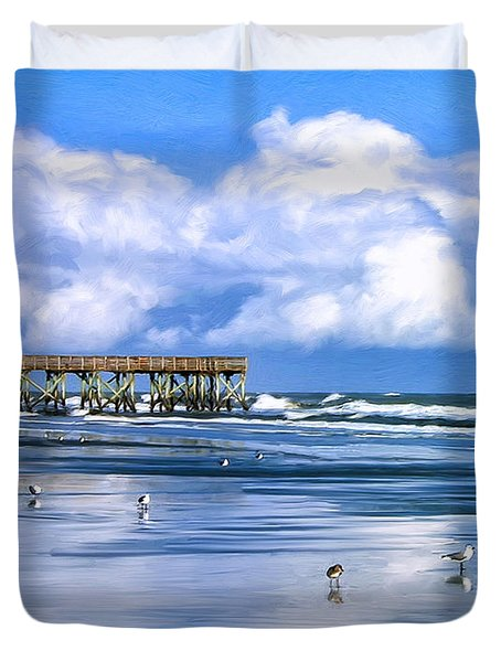 Beach At Isle Of Palms Duvet Cover