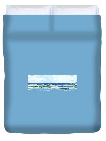 Beach At Isle Of Palms Two Duvet Cover