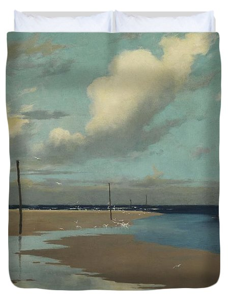 Beach At Low Tide Duvet Cover