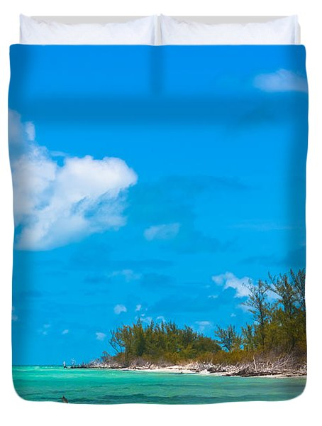 Beach At North Bimini Duvet Cover