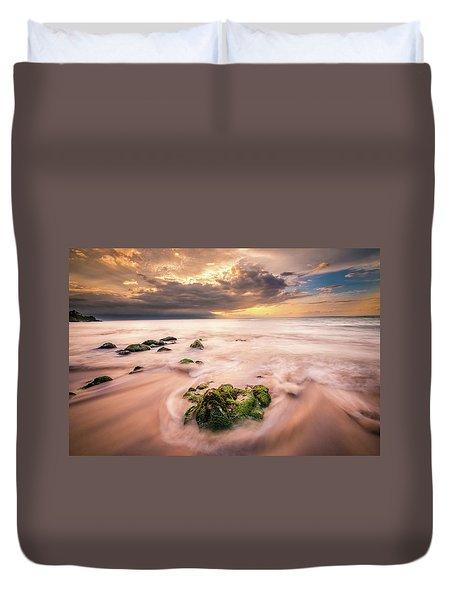Beach At Paia Duvet Cover