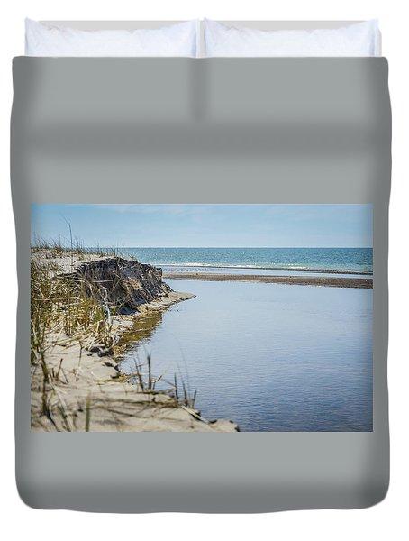 Beach At Warren Dunes Duvet Cover