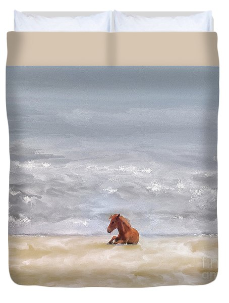 Duvet Cover featuring the photograph Beach Baby by Lois Bryan