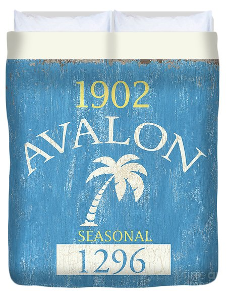 Beach Badge Avalon Duvet Cover