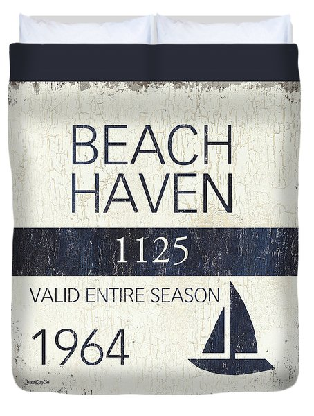 Beach Badge Beach Haven Duvet Cover