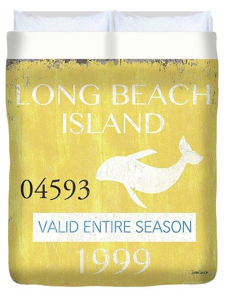 Beach Badge Long Beach Island 2 Duvet Cover