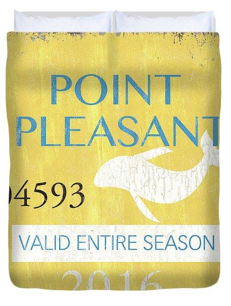 Beach Badge Point Pleasant Duvet Cover