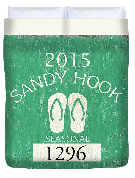 Beach Badge Sandy Hook Duvet Cover