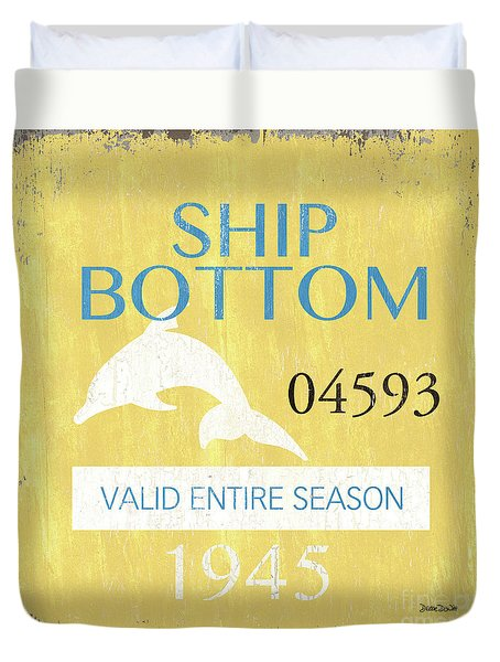 Beach Badge Ship Bottom Duvet Cover
