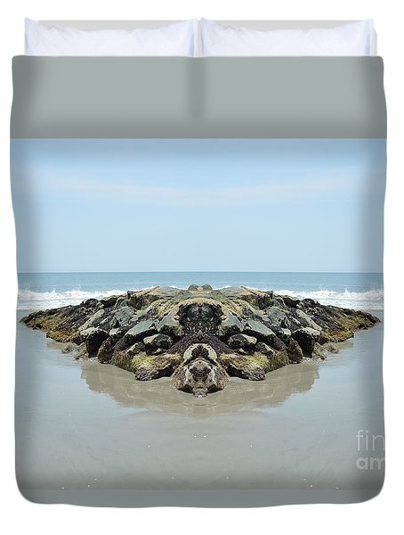 Beach Barrier Duvet Cover