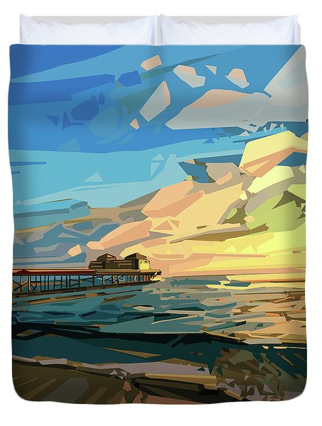 Beach Duvet Cover by Bekim Art
