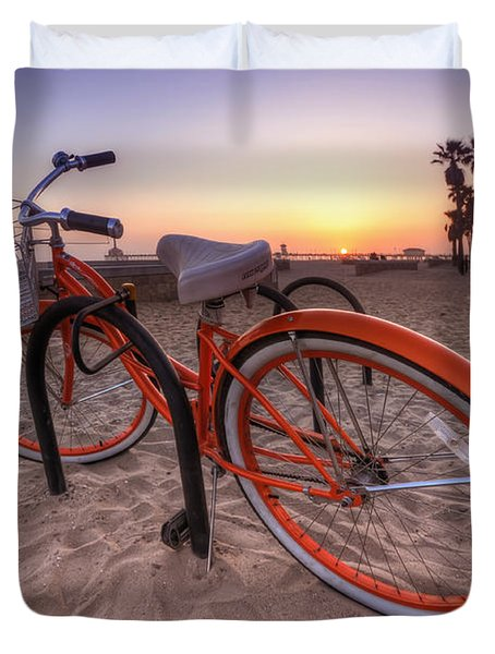 Beach Bike Duvet Cover