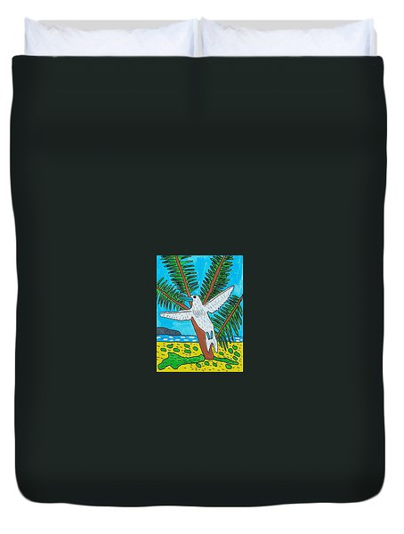 Beach Bird Duvet Cover by Artists With Autism Inc