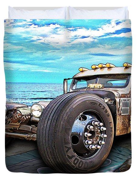 Beach Blanket Rat Rod Duvet Cover