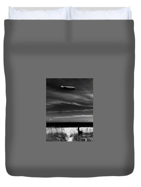 Beach Blimp Duvet Cover