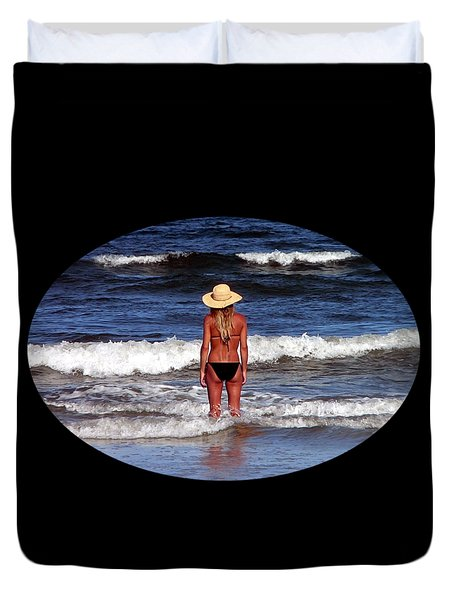 Duvet Cover featuring the photograph Beach Blonde .png by Al Powell Photography USA