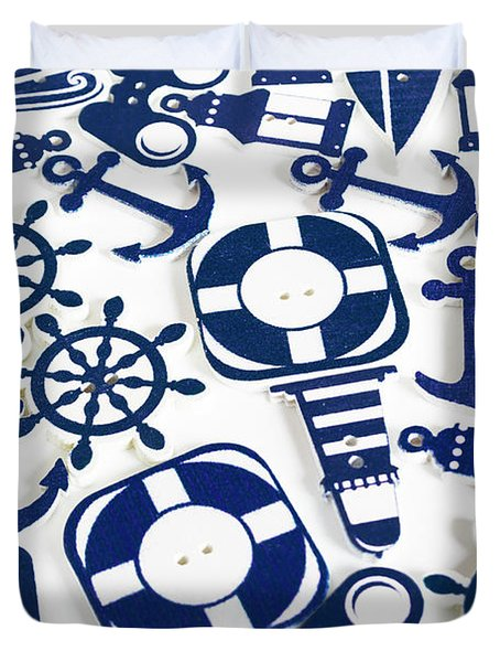 Beach Blue Background Duvet Cover