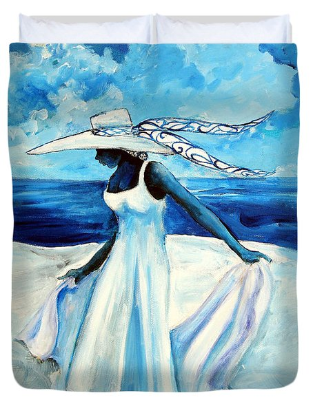Beach Blues Duvet Cover by Diane Britton Dunham