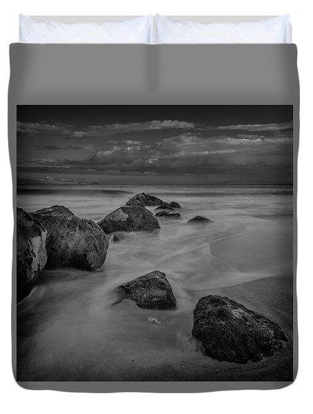 Beach Boulders Duvet Cover