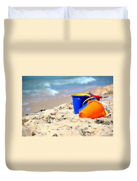 Beach Buckets Duvet Cover