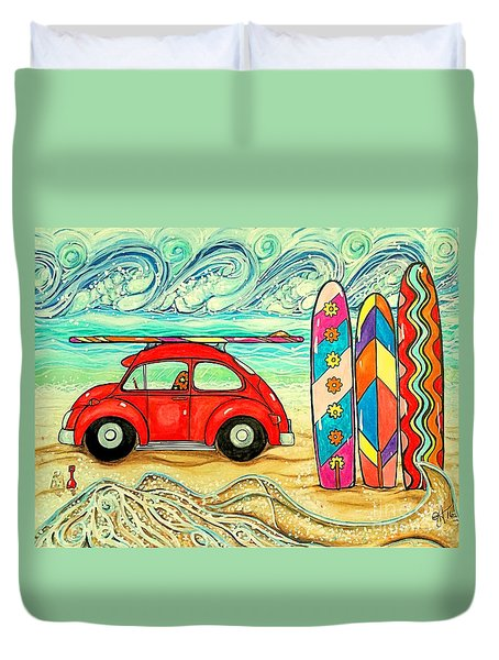 Beach Bug Duvet Cover