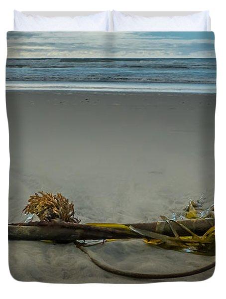 Beach Bull Kelp Laying Solo Duvet Cover