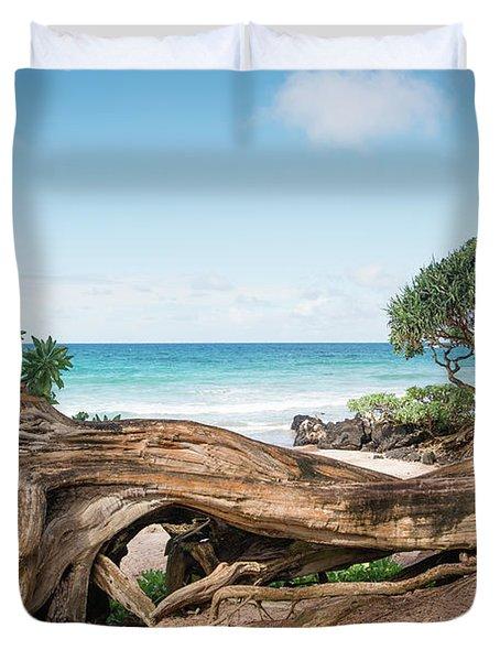Beach Camping Duvet Cover