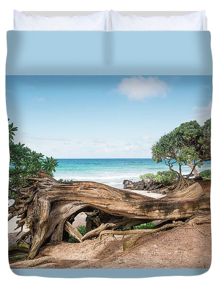 Beach Camping Duvet Cover