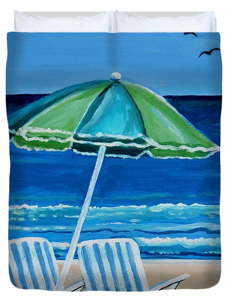 Beach Chair Bliss Duvet Cover