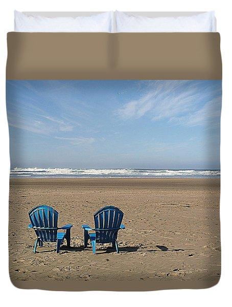 Beach Chair Pair Duvet Cover by Suzy Piatt