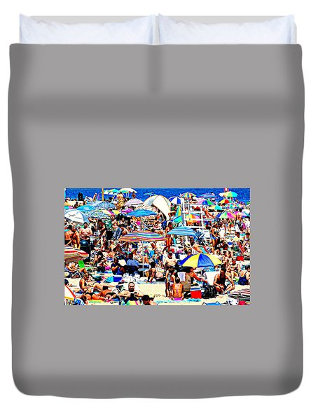 Beach Chaos Duvet Cover by Diana Angstadt
