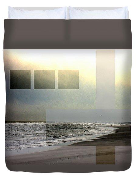 Beach Collage 2 Duvet Cover by Steve Karol
